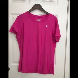 NWT Under Armour Heat Gear PINK Shirt X Large